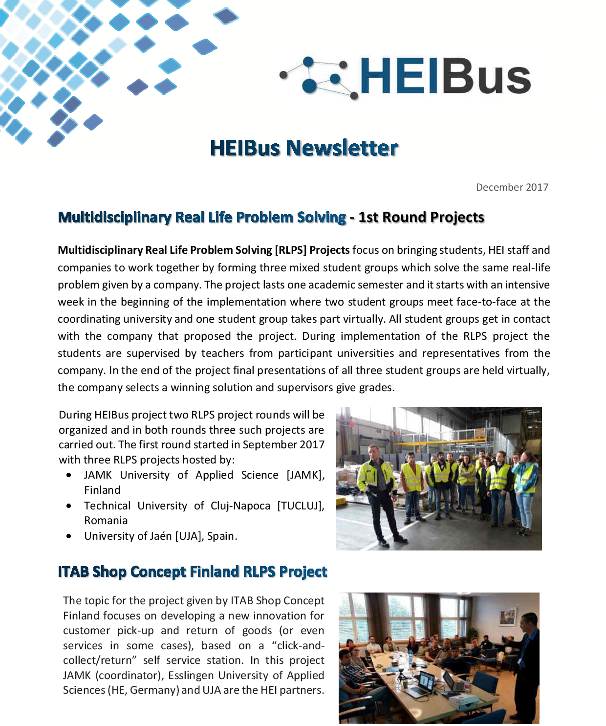 HEIBus Second Newsletter 1