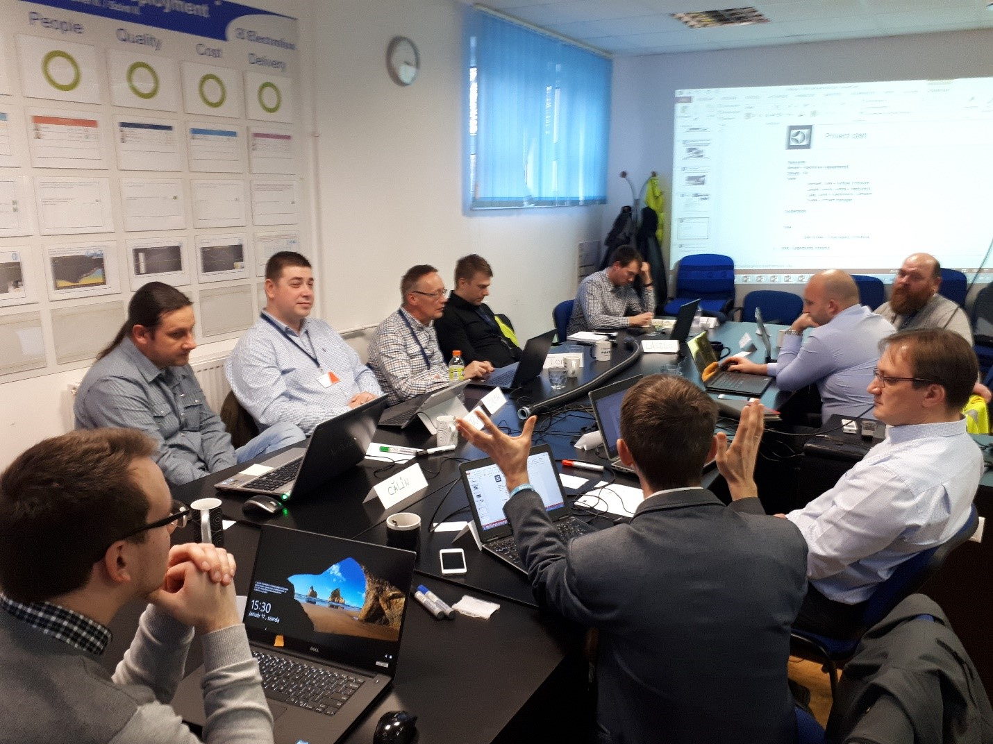 Kick-off meeting of the Electrolux-pilot project