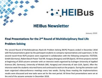 Fifth HEIBus Newsletter