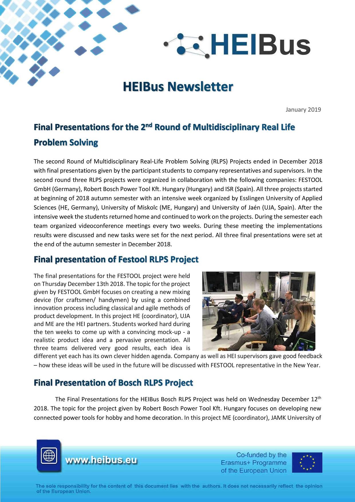 HEIBus Newsletter 5