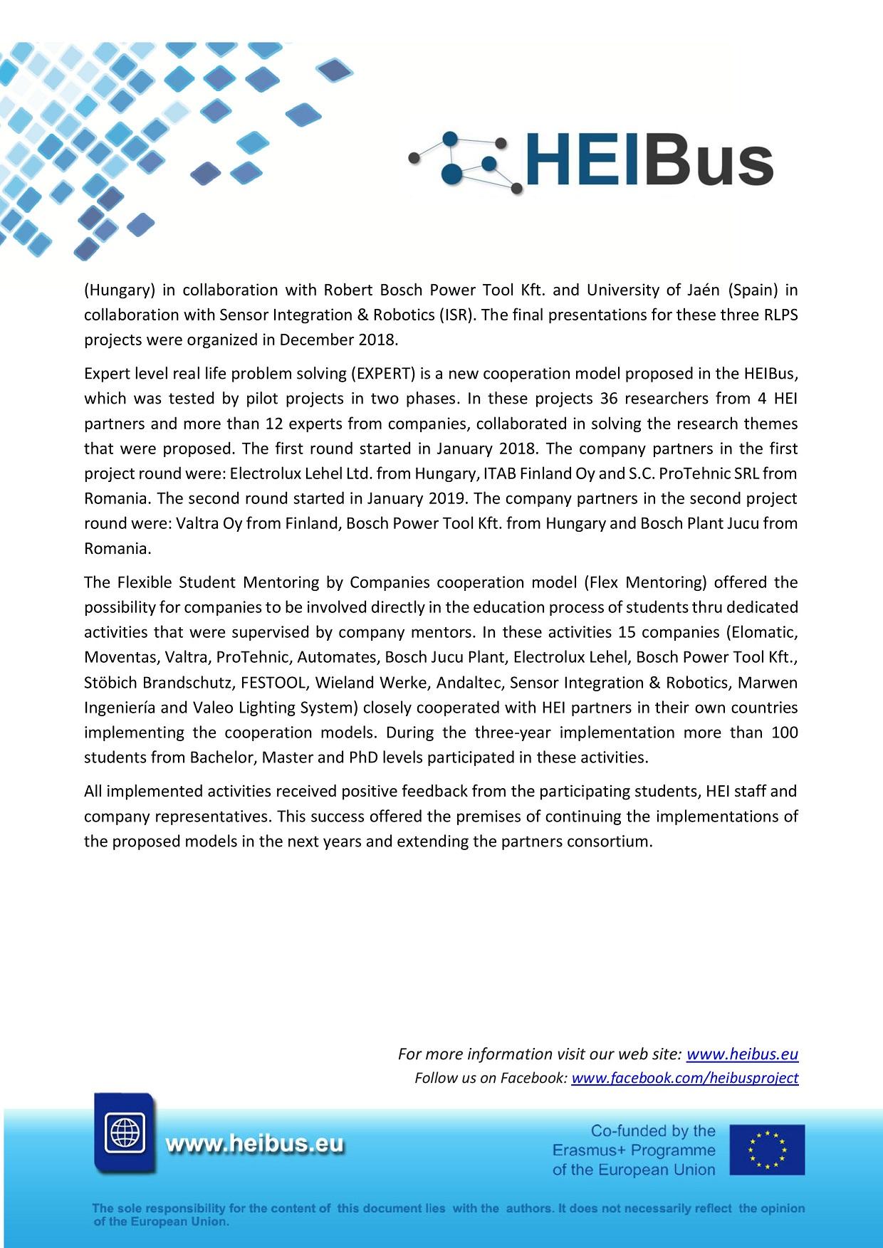 HEIBus Newsletter 7